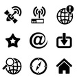 computer web icons vector image