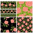 flower patterns vector image vector image