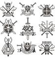 Viking signs set vector image