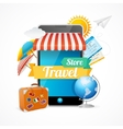 On-line Travel Concept vector image