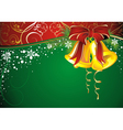 christmas background with christmas bells vector image vector image
