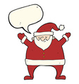 cartoon santa claus with speech bubble vector image