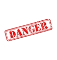 Danger rubber stamp vector image vector image