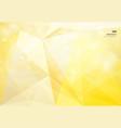 abstract geometric yellow background bokeh vector image