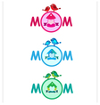 Banners for mother day vector image