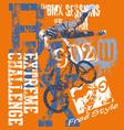 BMX Extreme challenge vector image