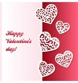 cut out paper lacy hearts valentines card vector image