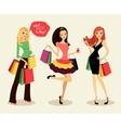 fashion shopping girls vector image