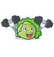fitness lettuce character cartoon style vector image