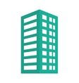 Green building line sticker image vector image