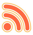 rss sign or wi-fi signal icon vector image