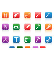 handwork tools icons button vector image