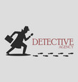 silhouette of detective agency vector image