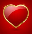 Red and golden heart vector image