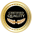 Certified Quality Black Label vector image