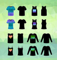 Set of clothing icons vector image