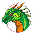 dragon sign vector image vector image