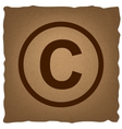 Copyright sign Vintage effect vector image