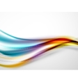 Rainbow color glossy silk elegant wave vector image