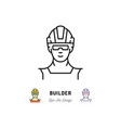 builder icon work man isolated worker in a vector image