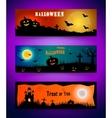 Happy halloween banner set Collection of header vector image