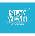 Paper Folding with Letter Happy New Year vector image