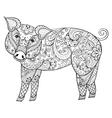 Pig Zentangle Pig Swine vector image