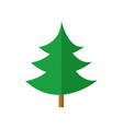 simple curvy pine christmas tree vector image