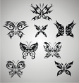 Tribal Butterfly Set vector image