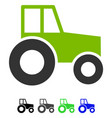wheeled tractor flat icon vector image
