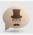 Hipster accessories design Brown gradient icon on vector image