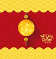 Chinese New Year Background with lantern vector image