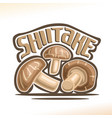 shiitake mushrooms vector image