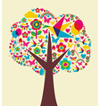 Spring time tree background Vector Image
