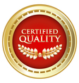 Certified Quality Gold Emblem vector image vector image
