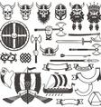 Set Viking items vector image