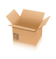 cardboard box isolated on white background vector image vector image