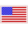 USA flag on stamp vector image