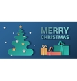 Banner Christmas Style realistic paper pattern vector image