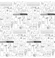 Bath accessories hand drawn seamless pattern vector image