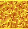 bright yellow polygonal background vector image
