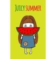 Card juicy summer vector image