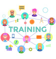 Concepts of word training Flat design banner for vector image