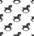 horse toy seamless pattern vector image