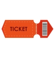 orange movie ticket vector image