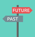 Past and future sign vector image