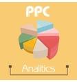 Ppc analytics pie pie charts pretty colors vector image
