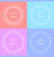 set of tender doodle frames with a boho pattern vector image