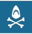 Shark symbol vector image