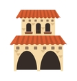 spanish colonial architecture icon vector image